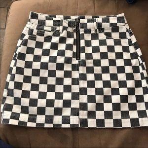 BDG checkered Skirt
